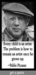 Every child is an artist. The problem is how to remain an artist once he grows up. Pablo Picasso at DailyLearners.com